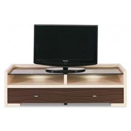 Cava - CV 2, TV stolek (thuje/metalic bronz) TV, Hifi stolky  - dřevěné