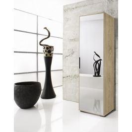 Rhein - Skříň se zrcadlem, 1x dveře (dub)