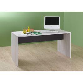 Cariba - Pracovní stůl (bílá dub, černá láva) Dětské pracovní stoly