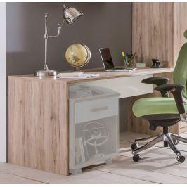 Cariba - Pracovní stůl (san remo dub, bílá) Dětské pracovní stoly