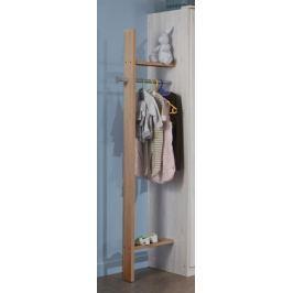 Cariba - Šatník (san remo dub, bílá) Dětské skříně