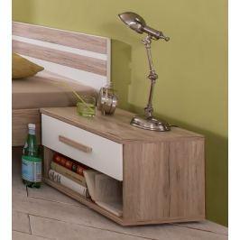 Cariba - Noční stolek (san remo dub, bílá) Dětské noční stolky