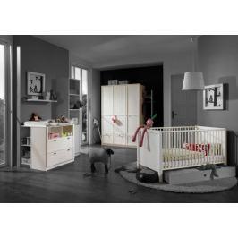 Filou - Set, skříň, postýlka, přebalovací pult (alpská bílá) Dětské sestavy