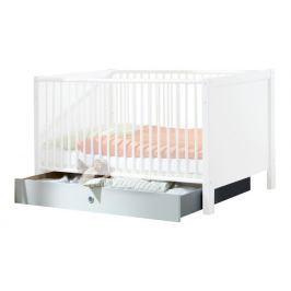 Filou - Úložný prostor pod dětskou postýlku (alpská bílá) Úložný prostor