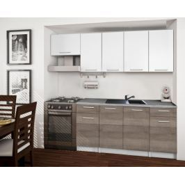 Basic - Kuchyňský blok A, 220/160 cm (bílá, trufle, titan)