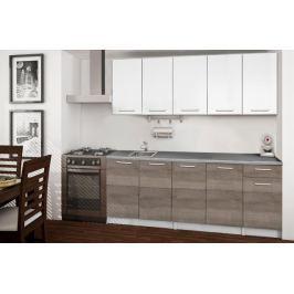 Basic - Kuchyňský blok A, 200 cm (bílá, trufle, titan) Rovné