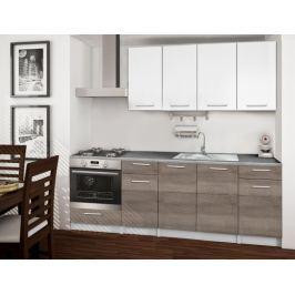 Basic - Kuchyňský blok C, 220/160 cm (bílá, trufle, titan)