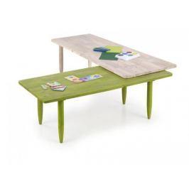 Bora-Bora - Dětský stůl, barevný (bělené dřevo, zelená)