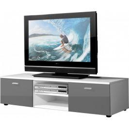 Easy - TV stolek, 3665-103 (bílá/šedá vysoký lesk)