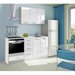 Mondeo - Kuchyňský blok C 120/180 cm (bílá, mramor)