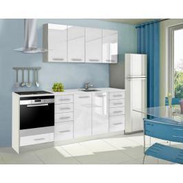 Mondeo - Kuchyňský blok A 160/220 cm (bílá, mramor)