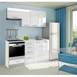 Mondeo - Kuchyňský blok B 180 cm (bílá, mramor)