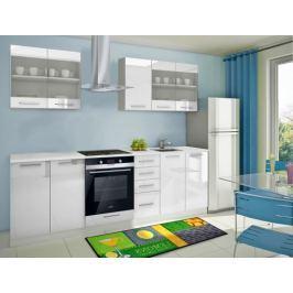 Mondeo - Kuchyňský blok C 200/260 cm (bílá, mramor)