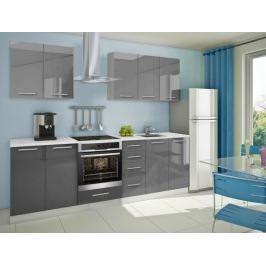 Mondeo - Kuchyňský blok A 200/260 cm (šedá, mramor)