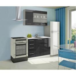 Mondeo - Kuchyňský blok B 120 cm (černá, mramor)