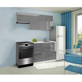 Mondeo - Kuchyňský blok A 180/120 cm (šedá, mramor)