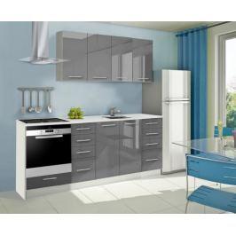 Mondeo - Kuchyňský blok A 160/220 cm (šedá, mramor)