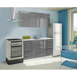 Mondeo - Kuchyňský blok A 160 cm (šedá, mramor)