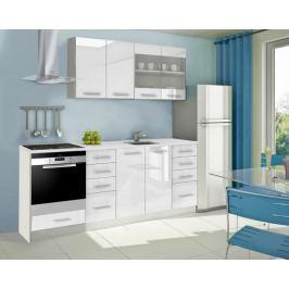 Mondeo - Kuchyňský blok C 160/220 cm (bílá, mramor)