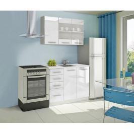 Mondeo - Kuchyňský blok B 120 cm (bílá, mramor)