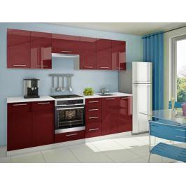 Mondeo - kuchyňský blok D 260 cm (pracovní deska - mramor)