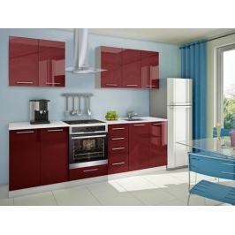 Mondeo - kuchyňský blok A 200/260 cm (pracovní deska - mramor)