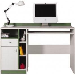 Stone - Dětský pracovní stůl ST10 (bílá, zelená)