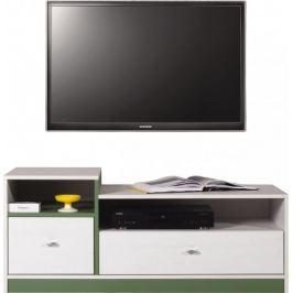 Stone - TV stolek ST9 (bílá, zelená)
