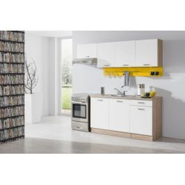 Bria - Kuchyňský blok 210 C (bardolino/bílá lesk/PD bardolino)