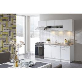 Lela - Kuchyňský blok 210 A (bílá/bardolino/dub bardolino)