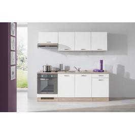 Bria - Kuchyňský blok 210 D (bardolino/bílá lesk/PD bardolino)
