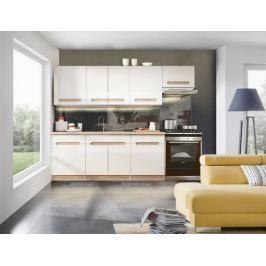 Sandy - Kuchyňský blok 200/260 cm (bílá, dub sonoma)