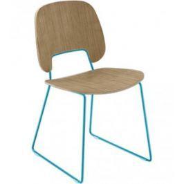 Traffic-t - Jídelní židle (lak tyrkysový mat, světlý dub)
