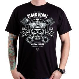 BLACKHEART Piston Skull černá - M