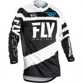 Fly Racing F-16 2018 černo-bílá - S
