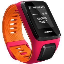 TomTom Runner 3 Cardio + Music růžovo-oranžová - S (121-175 mm)