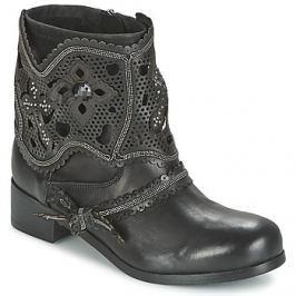 Mimmu  MOL  Černá Kotníkové boty