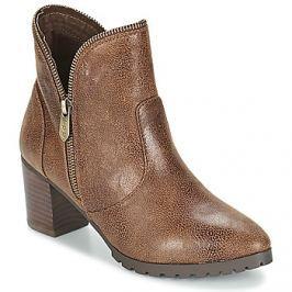 LPB Shoes  CHARLINE  Hnědá Kotníkové kozačky