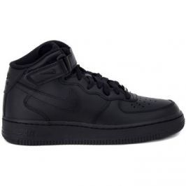 Nike  AIR FORCE 1 MID  BLACK  Černá