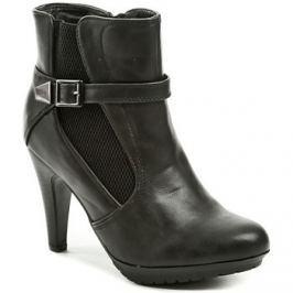 Sprox  010400 černá dámská kotníčková obuv  Černá Kotníkové kozačky