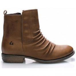 Online Shoes  Hnědé kožené kotníkové boty  ruznobarevne
