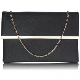 Ls Fashion  Luxusní černé listové psaníčko  0279  Černá