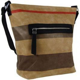 New Berry  Crossbody kabelka z broušené kůže TH2035  Hnědá