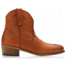 Online Shoes  Hnědé kožené kovbojské boty  ruznobarevne