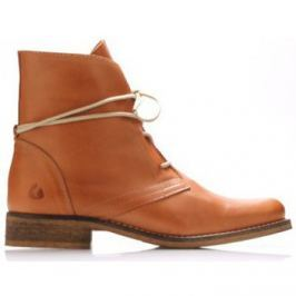 Online Shoes  Koňakově hnědé kožené šněrovací boty  ruznobarevne