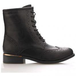 Claudia Ghizzani  Černé broque boty se zlatým podpatkem  ruznobarevne