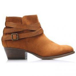 Claudia Ghizzani  Hnědé boty na podpatku s řemínky  ruznobarevne