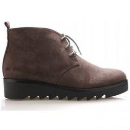 Claudia Ghizzani  Šedé kotníkové boty s tkaničkami  ruznobarevne