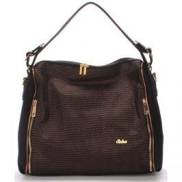Seka  Luxusní dámská kabelka přes rameno zlatá -  Gema  Zlatá