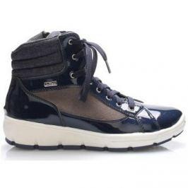 M g  Tmavě modré italské zimní boty  ruznobarevne